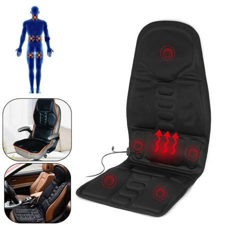 8 Mode 3 Intensity Car Home Chair Electric Full Body Kneading Rolling Vibration Massage Heat Mat Seat Cushion Lumbar Pad Full Back Neck Pain Relief Electric Body Massager (Japanese Foot Massage Pad)