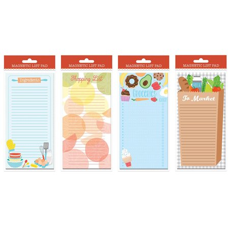 Set Of 4 Magnetic List Pads  3 75   X 8 125   Grocery Shopping List Pads  Shopping List Magnetic Steno Pad
