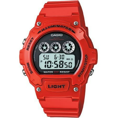 Men's Digital Watch, Red Glossy Resin -
