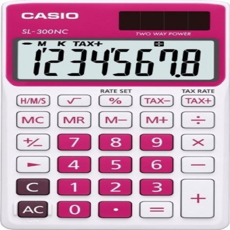 Casio SL-300NC-RD Basic Calculator Large Display Tax Calc. RED