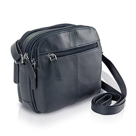 b296fafb2cde Visconti - Visconti 18939 Womens Small Leather Shoulder   Crossbody Bag ( Navy) - Walmart.com