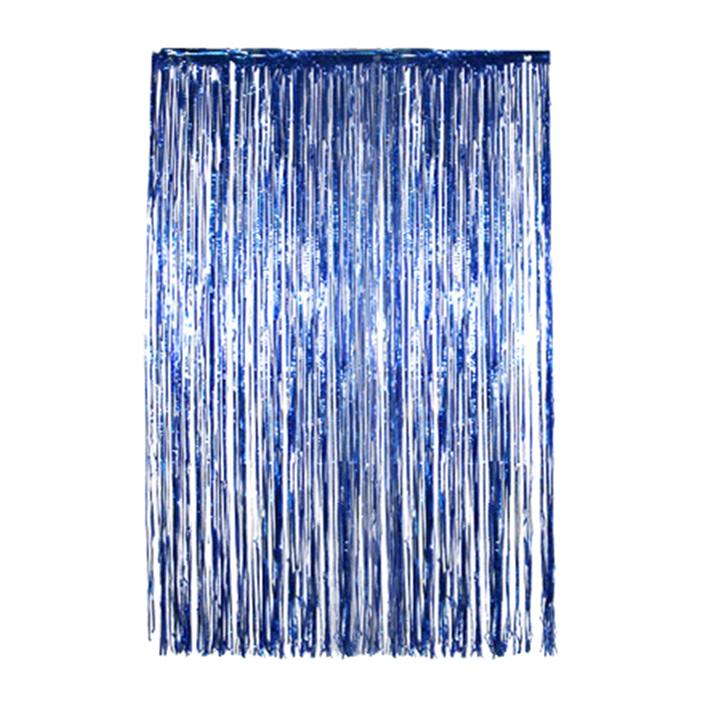 Rain curtain pull flower 1*2 meters party background foil curtain rose gold pink rain