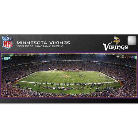 Master Pieces Minnesota Vikings Panoramic Stadium Puzzle  1 000 Pieces