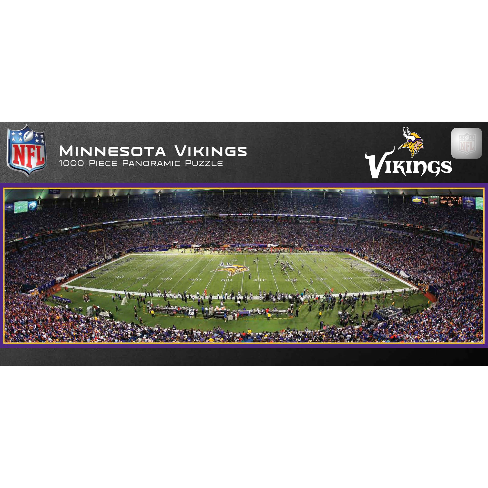 Master Pieces Minnesota Vikings Panoramic Stadium Puzzle, 1,000 Pieces