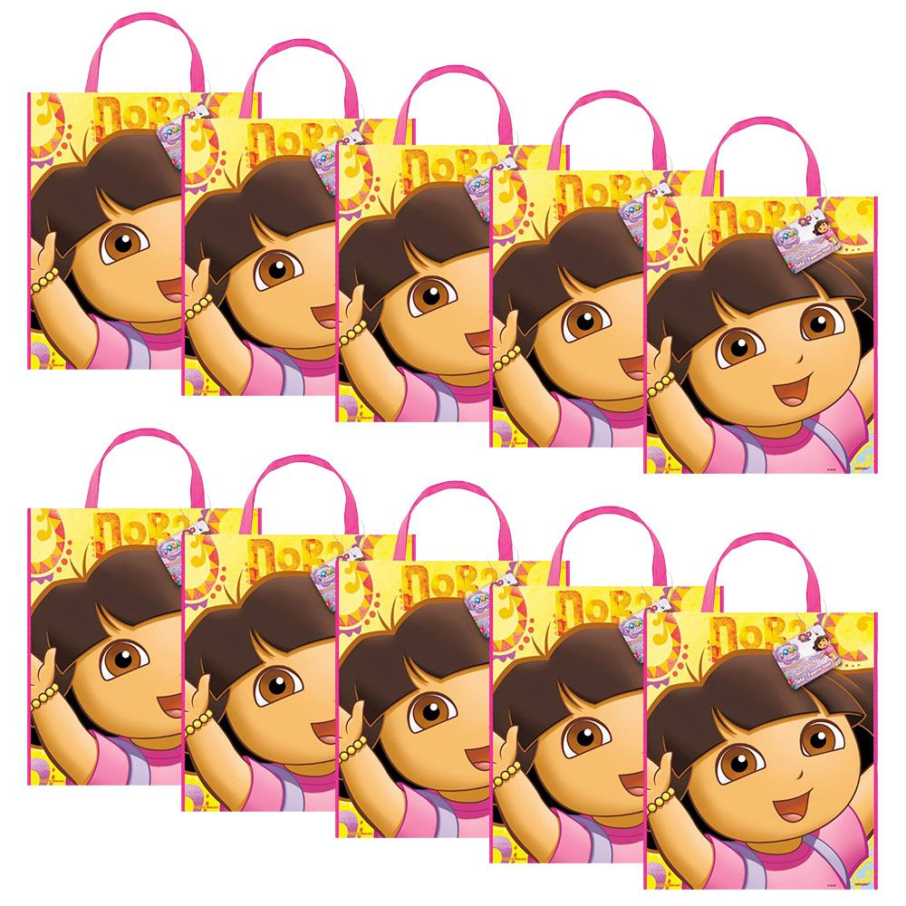 Dora the Explorer Tote Bags (Set of 10) - Party Supplies