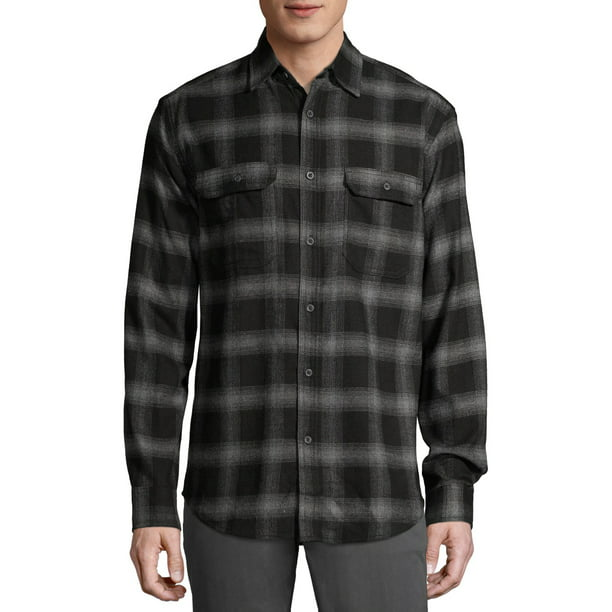 George Men's and Big Men's Super Soft Flannel Shirt, up to 5XLT