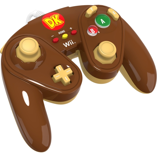 PDP Wired Fight Pad for Nintendo Wii U - Donkey Kong (Brown)
