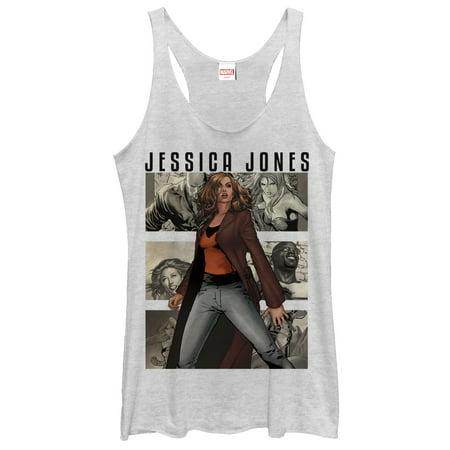 Marvel Jessica Jones Panels Womens Graphic Racerback Tank