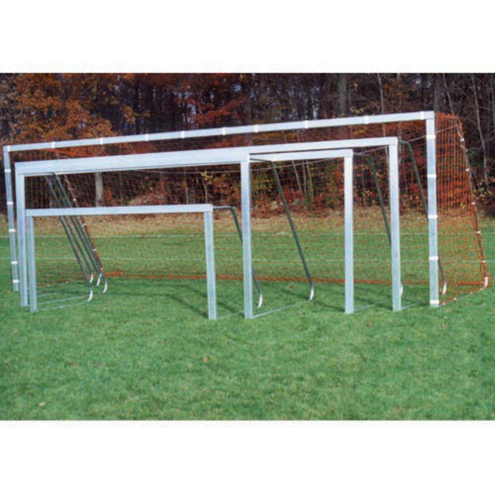 Goal Sporting Goods Unpainted Square Recreational Soccer Goals - Pair
