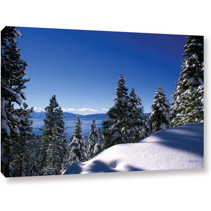 """Kathy Yates """"Lake Tahoe In Winter"""" Canvas Art"""