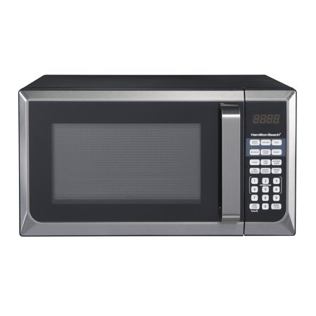 Hamilton beach 09 cuft microwave oven black stainless steel hamilton beach 09 cuft microwave oven black stainless steel sciox Images