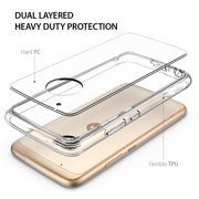 the best attitude 22ecb 448bc Motorola Moto G5 Plus Case, Ringke [FUSION] Crystal Clear PC Back TPU  Bumper Case - Clear