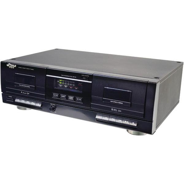 PYLE PRO PT659DU Dual Cassette Deck with MP3 Conversion by Pyle