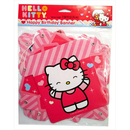 Hello Kitty 'Sweet Gumdrop' Happy Birthday Banner - Hello Kitty Halloween Birthday Party