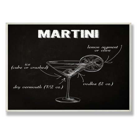 The Stupell Home Decor Collection Clic Martini Kitchen Wall Plaque