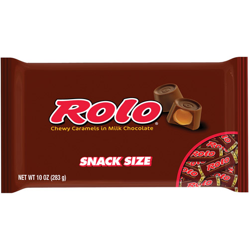 Rolo Chewy Caramels in Milk Chocolate Snack Size Candy, 10 oz