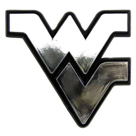West Virginia Mountaineers Silver Auto Emblem Decal Sticker