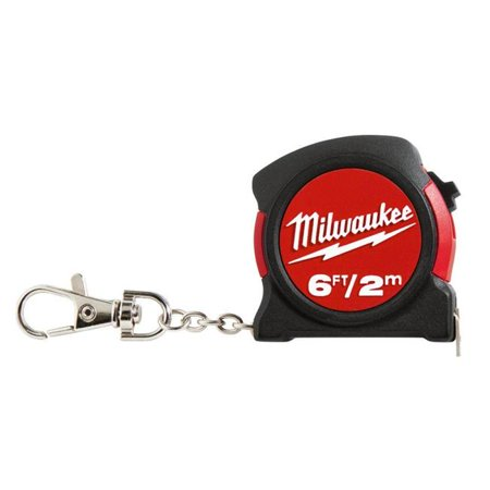 Milwaukee Electric Tools MLW48-22-5506C 6 ft. Keychain Tape Measure - image 1 of 1