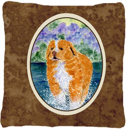 Carolines Treasures SS8619PW1414 Nova Scotia Duck Toller Decorative Fabric Pillow - 14 x 14 in. - image 1 de 1