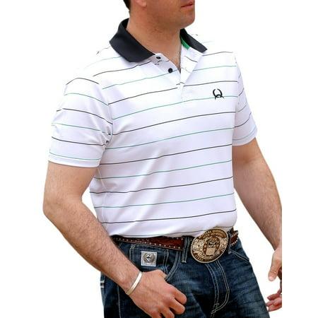 7ba6614b Cinch - Cinch Western Shirt Mens S/S Athletic Polo Stripe White ...