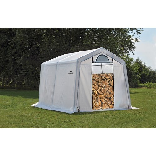 ShelterLogic 10'x10'x8' Firewood Seasoning Shed in White