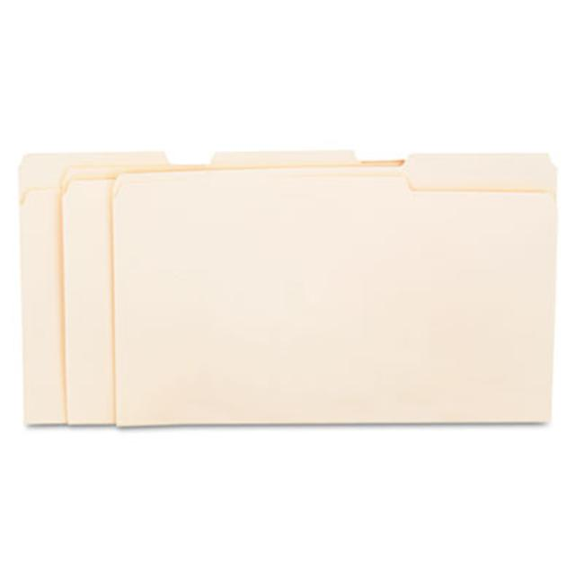 Universal File Folders- 1/3 Cut Assorted- One-Ply Top Tab Manila- 100/Box