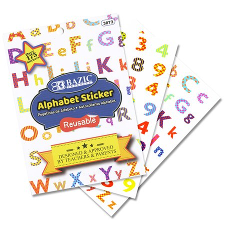 New 402789   Alphabet Plastic Sticker Book (24-Pack) Office Supply Cheap Wholesale Discount Bulk Stationery Office Supply River Stones - Cheap Stickers