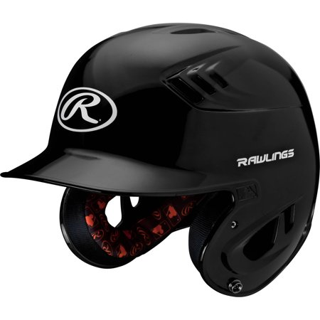 Rawlings Senior R16 Series Metallic Batting Helmet, Black