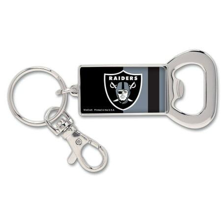 Oakland Raiders WinCraft Bottle Opener Key Ring Keychain - No Size