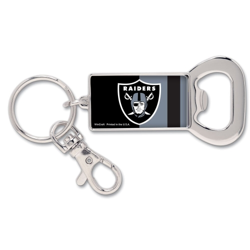 Oakland Raiders WinCraft Bottle Opener Key Ring Keychain - No Size