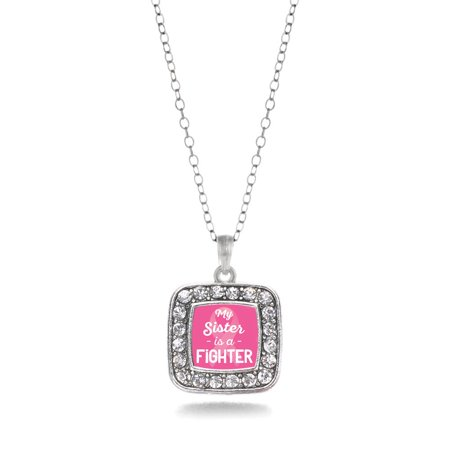 My Sister Is A Fighter Breast Cancer Awareness Classic Charm Necklace