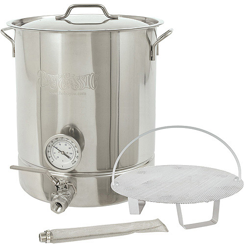 Bayou Classic 8-Gallon 6-Piece Brew Kettle Set, Stainless Steel by Barbour International