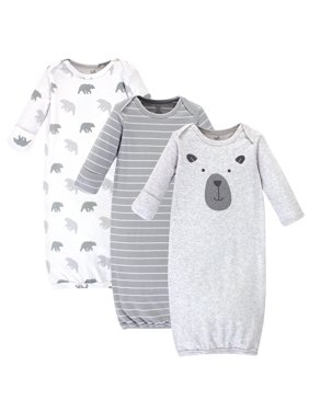 Touched by Nature Baby Boy Organic Gowns, 3pk