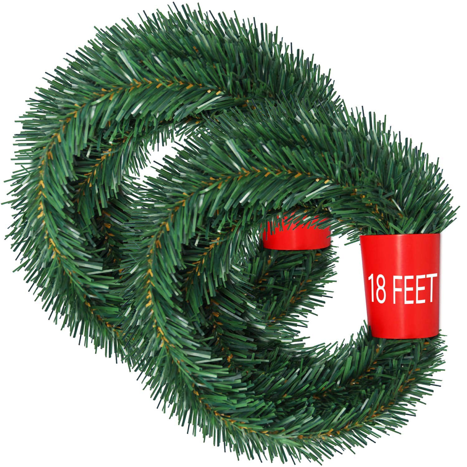 Christmas Garlands.36 Feet Christmas Garland 2 Strands Artificial Pine Garland Soft Greenery Garland For Holiday Wedding Party Decoration Outdoor Indoor Use