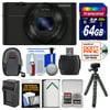Sony Cyber-Shot DSC-RX100 Digital Camera (Black) with 64GB Card + Battery & Charger + Case + Flex Tripod + Accessory Kit