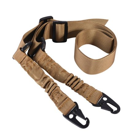 Tactical 2 Point Task Rope Adjustable Bungee Rifle Gun Sling System (Gun Rope)