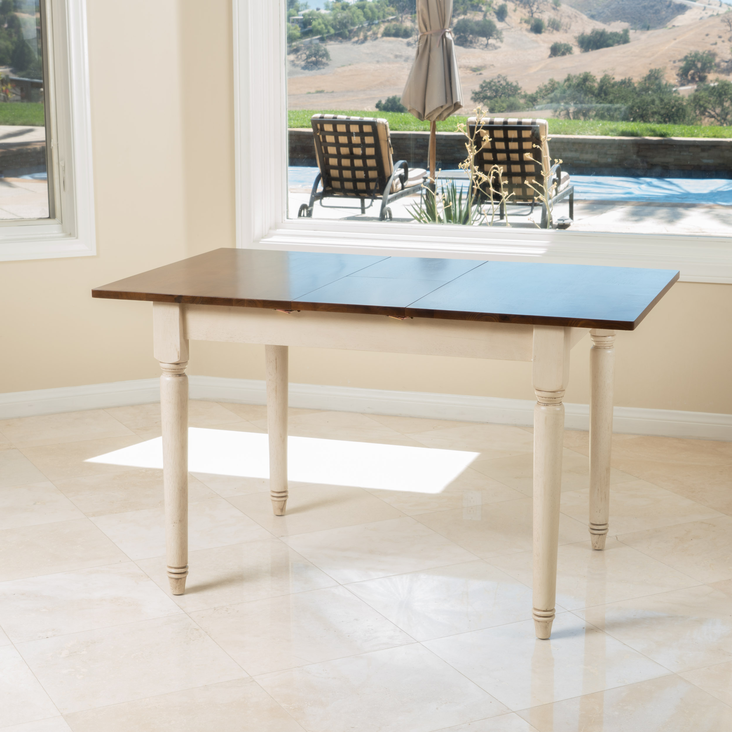 Noble House Neauton Rectangular Expandable Dining Table