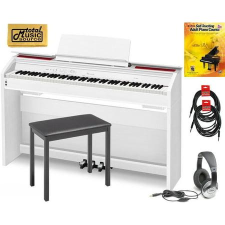 casio privia px 860 prob 88 key digital piano pro bundle white px860we prob. Black Bedroom Furniture Sets. Home Design Ideas