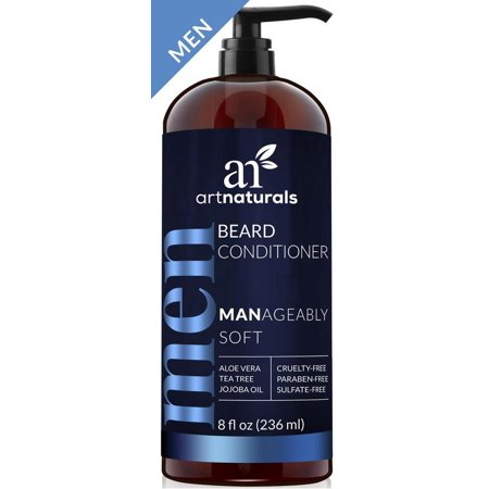 artnaturals Natural Beard Deep Conditioner - 8 F Oz - Infused with Aloe Vera, Tea Tree and Jojoba Oil - Sulfate Free (Tea Tree Beard Oil)