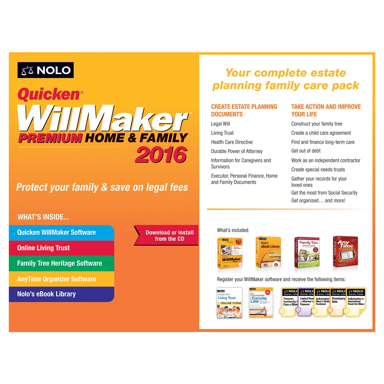 quicken willmaker premium home family 2016 walmart com