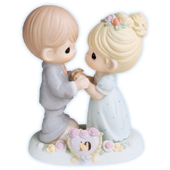 Precious Moments 10th Wedding Anniversary Porcelain Figur...