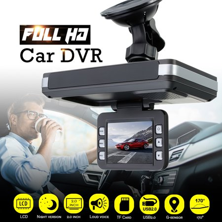 Digital Video Camera 2 IN 1 HD 720P 2.0inch G-Sensor LCD Display Car DVR Recorder Vehicle Dash Cam Crash Night Vision Camcorder Equipment+Laser Speed Detector Trafic (Best Dash Cam With Speed Camera Alert)