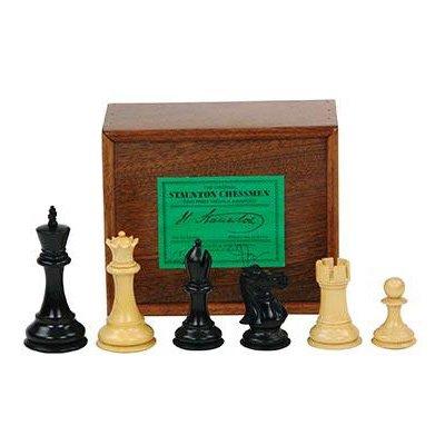Jaques Ebonized Fischer Spassky Chessmen