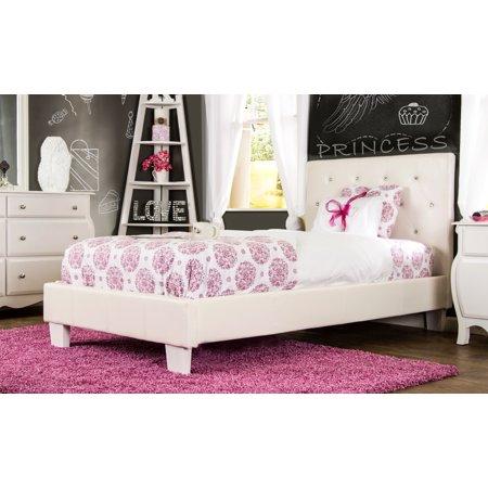 Furniture of America Kailee Crystal Tufted White Headboard - Twin