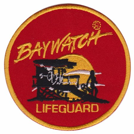 4 Inches Team Patch (Baywatch Lifeguard Baithing Suit patch- TV Series 4