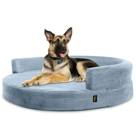 Kopeks Deluxe Orthopedic Memory Foam Round Sofa Dog Bed, X-Large, 50