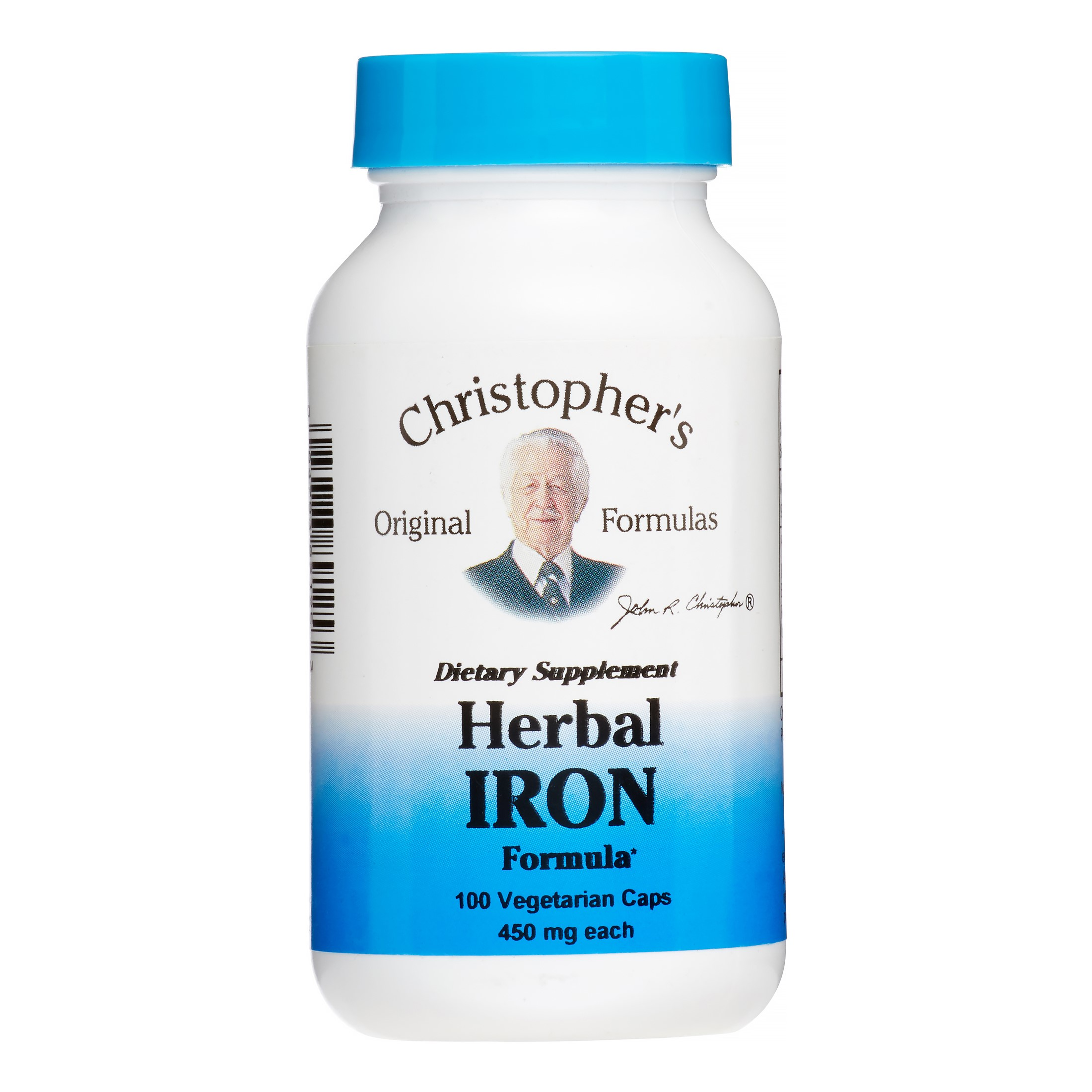 Christopher's Original Formulas Herbal Iron Formula, 100 Ct