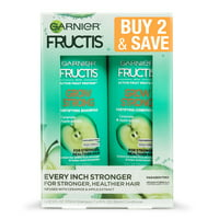 Garnier Fructis Grow Strong Shampoo & Conditioner For Stronger, Healthier, Shinier Hair, 2 COUNT