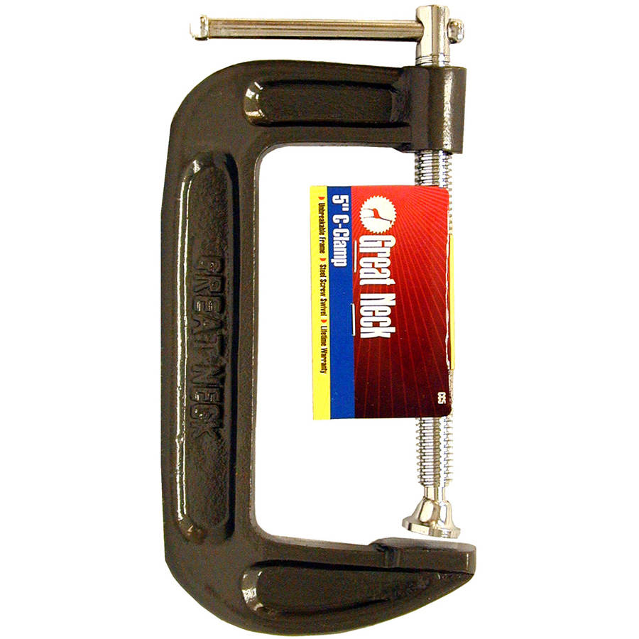 """Great Neck CC5 5"""" Adjustable C Clamps by Great Neck"""