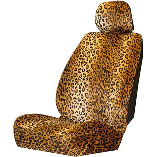 Plasticolor Leopard Wild Skinz Seat Cover with Head Rest
